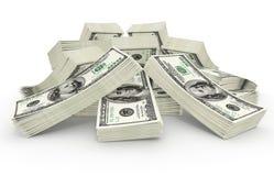 Grandi dollari di somma di denaro illustrazione di stock