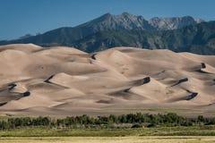 Grandi dune di sabbia Fotografie Stock