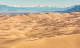 Grandi dune di sabbia Fotografia Stock Libera da Diritti