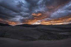 Grandi dune di sabbia sosta nazionale, Colorado, S Fotografie Stock Libere da Diritti