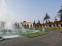 Grandi e piccole fontane, circuito magico dell'acqua a Lima Immagini Stock Libere da Diritti