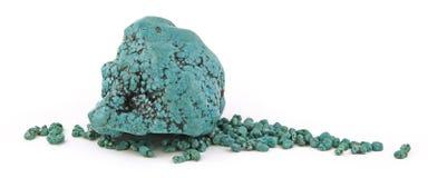 Grandi e piccoli campioni naturali del turchese Immagine Stock
