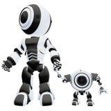 Grandi e piccoli robot   Fotografia Stock
