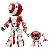 Grandi e piccoli robot   illustrazione vettoriale