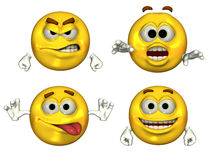 Grandi Emoticons 3D Immagine Stock