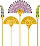 Grandi fan egiziani royalty illustrazione gratis