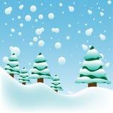 Grandi fiocchi di neve Immagini Stock