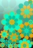 Grandi fiori arancioni e blu Immagini Stock Libere da Diritti