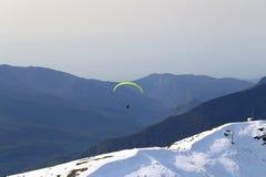Grandi foto delle montagne nevose Fotografie Stock