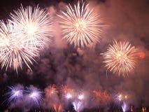 Grandi fuochi d'artificio Fotografia Stock Libera da Diritti