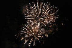 Grandi fuochi d'artificio Fotografie Stock Libere da Diritti