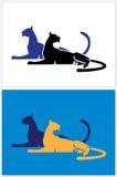 Grandi gatti Fotografie Stock Libere da Diritti