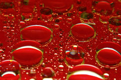 Grandi gocce rosse fotografia stock libera da diritti
