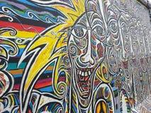GRANDI GRAFFITI SULLA A BILDING Fotografia Stock