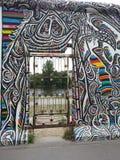 GRANDI GRAFFITI SULLA A BILDING Fotografie Stock