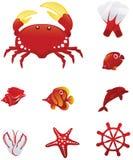Grandi icone della spiaggia Immagini Stock