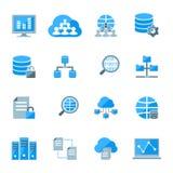 Grandi icone di dati illustrazione di stock