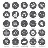 Grandi icone di dati, bottoni della gestione dei dati Fotografia Stock Libera da Diritti