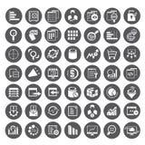 Grandi icone di dati, bottoni della gestione dei dati Immagini Stock Libere da Diritti