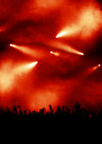Grandi indicatori luminosi al concerto Immagini Stock