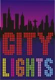 Grandi indicatori luminosi della città Immagini Stock Libere da Diritti