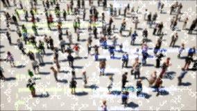 Grandi informazioni di dati Tecnologia di sicurezza informatica Archiviazione di dati della nuvola Priorità bassa astratta di tec illustrazione di stock