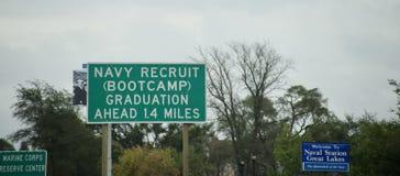 Grandi Laghi Illinois di Boot Camp della recluta della marina fotografia stock libera da diritti