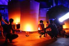 Grandi lanterne del cielo Immagine Stock