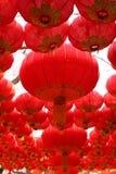 Grandi lanterne rosse Immagine Stock