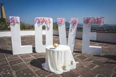 Grandi lettere di amore Fotografia Stock