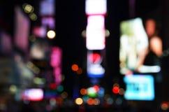 Grandi luci della città Immagini Stock