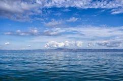 Grandi mare e cielo in Sithonia, Grecia Immagini Stock Libere da Diritti