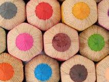 Grandi matite di legno immagine stock