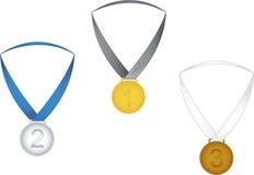 Grandi medaglie Fotografia Stock Libera da Diritti