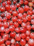Grandi mirtilli rossi freschi Fotografia Stock Libera da Diritti