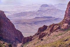 Grandi montagne di Chisos del parco nazionale della curvatura Immagine Stock Libera da Diritti