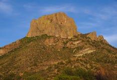 Grandi montagne di Chisos del parco nazionale della curvatura Immagine Stock