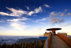 Grandi montagne di Smokey Fotografia Stock