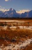 Grandi montagne di Teton Fotografia Stock