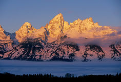 Grandi montagne di Teton Immagini Stock Libere da Diritti