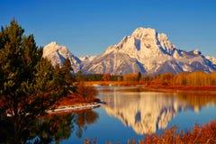 Grandi montagne di Teton, parco nazionale di Teton Fotografia Stock Libera da Diritti