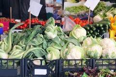 Grandi mucchi delle verdure Fotografia Stock Libera da Diritti