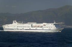 Grandi Navi Veloci Ferryboat off coast of Genoa, Italy Royalty Free Stock Images