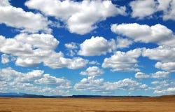 Grandi nubi del cielo Fotografia Stock