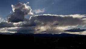 Grandi nuvole sul cielo di Colorado Fotografia Stock