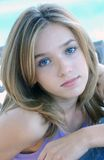 Grandi occhi azzurri fotografia stock