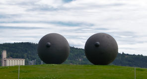 Grandi occhi a Tjuvholmen Immagini Stock