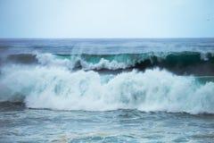 Grandi onde tempestose nell'Oceano Atlantico in Tenerife, Spagna Fotografia Stock Libera da Diritti