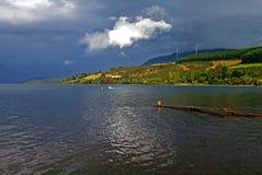 Grandi paesaggio ed arcobaleno del lago nel Cile Fotografia Stock Libera da Diritti