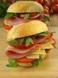 Grandi panini per la prima colazione Immagini Stock Libere da Diritti